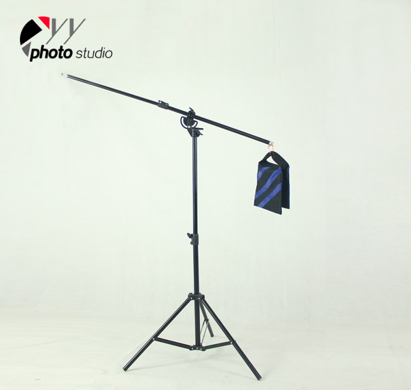 Heavy Duty 2-in-1 Rotatable Studio Boom Stand / Light Stand 12lb Load with Sandbag, BOOM KIT YS513