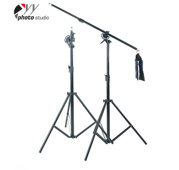 Heavy Duty 2-in-1 Rotatable Studio Boom Stand / Light Stand 12lb Load with Sandbag, BOOM KIT  YS512