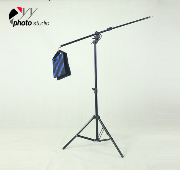 Heavy Duty 2-in-1 Rotatable Studio Boom Stand / Light Stand 12lb Load with Sandbag, BOOM KIT YS511