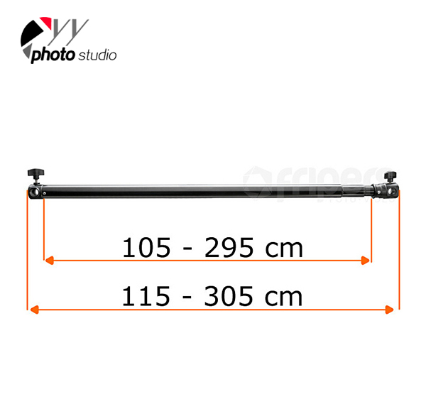 Telescopic Crossbar Cross for Background Support TELESCOPIC