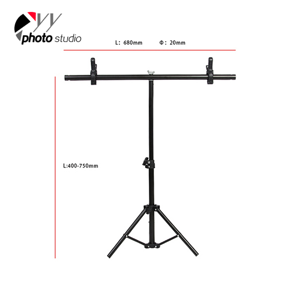 Photography Small Size Support Stand System T- Frame 60*75cm T-SUPPORT STAND-1