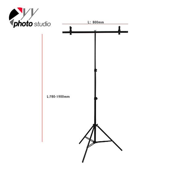 Photography Small Size Support Stand System T- Frame 60*75cm T-SUPPORT STAND-2