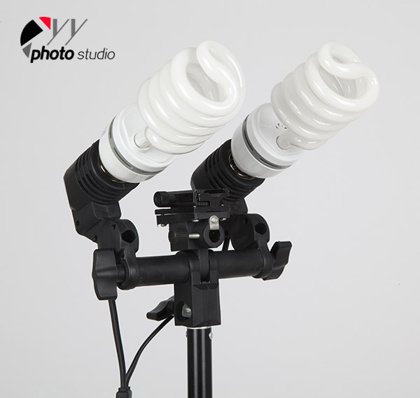 Premium Double Head AC Light Socket with Hot Shoe Adaptor (Flash Holder) YL104