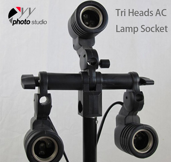 Premium Triple Heads AC Light Socket  YL116