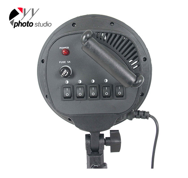 Continuous 5 Heads Softbox Light Socket YL107