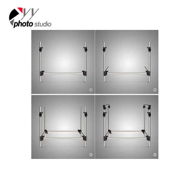 Portable Studio Shooting Table With Frame and Plexiglass Cover Included 60x130cm PST-613