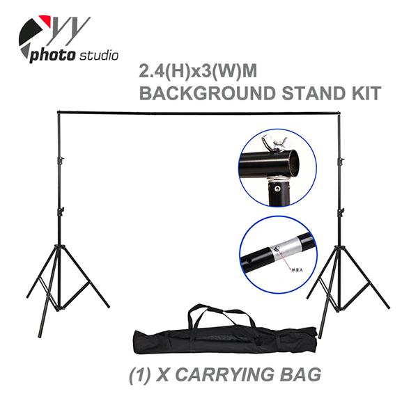 Durable Photo Studio Backdrop Support System 2.4m(H) x 3m(W) YS503
