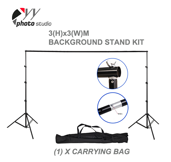 Durable Photo Studio Backdrop Support System 3m(H) x 3m(W) YS504