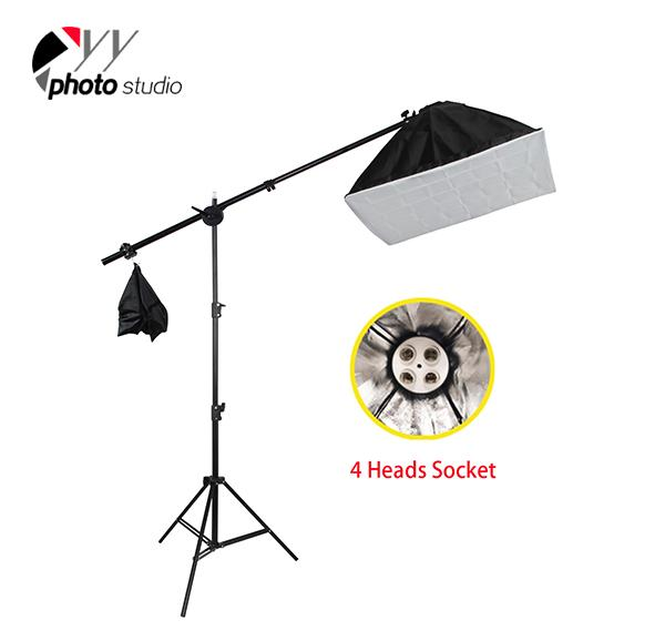 Photo Studio Video Continuous 4 Bulbs Head Lighting Kit, KIT 008