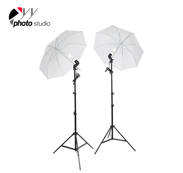 Photo Studio Umbrella Continuous Lighting Kit with Background Support System, KIT 009