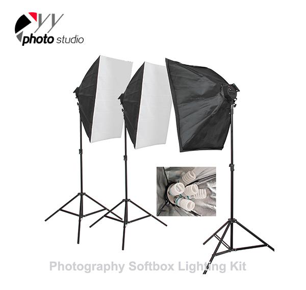 Photo Studio Video Softbox Continuous Lighting Kit, KIT 010