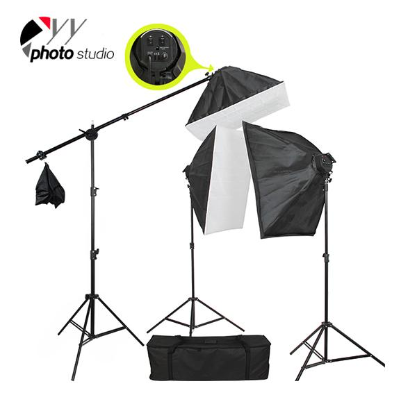 Photo Studio Video Softbox Continuous Lighting Kit, KIT 012