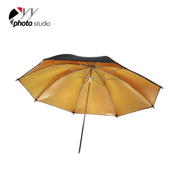 Studio Gold and Black Reflective Photo Umbrella YU301