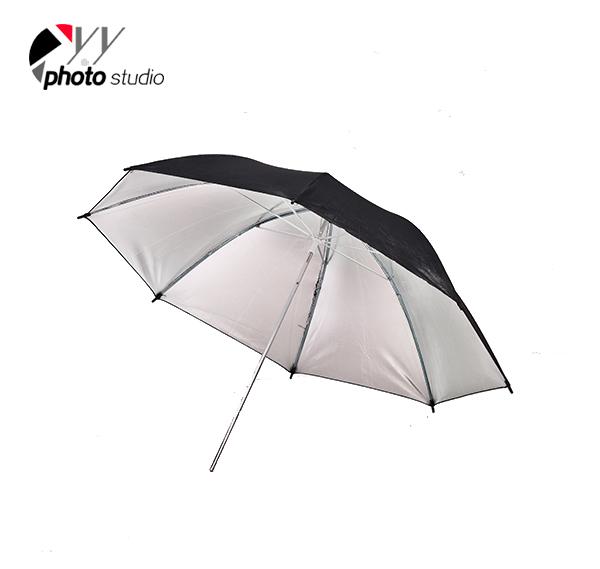 Studio Silver and Black Reflective Photo Umbrella YU302