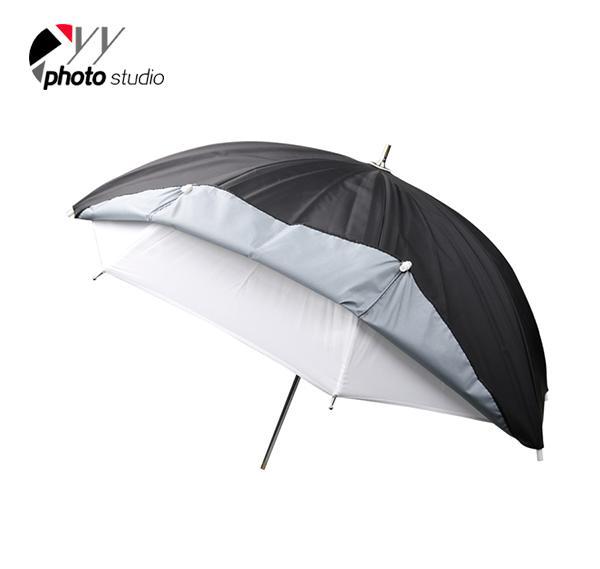 Dual Layer Detachable Studio Silver and Black Reflective Photo Umbrella YU303