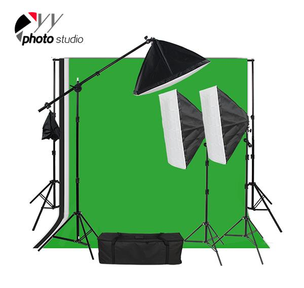 Photo Studio Video Softbox Continuous Lighting Kit with Support System, KIT 019