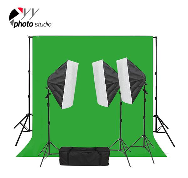 Photo Studio Video Softbox Continuous Lighting Kit with Support System, KIT 023