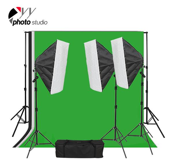 Photo Studio Video Softbox Continuous Lighting Kit with Support System, KIT 024