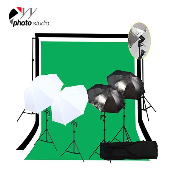 Photo Studio Umbrella Continuous Lighting Kit with Support System, KIT 026