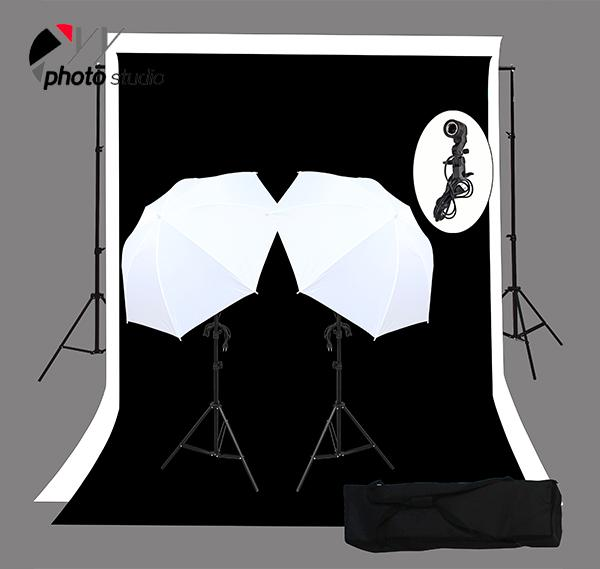 Photo Studio Umbrella Continuous Lighting Kit with Support System, KIT 029