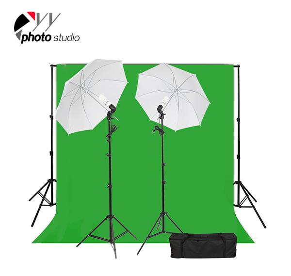 Photo Studio Umbrella Continuous Lighting Kit with Support System, KIT 031