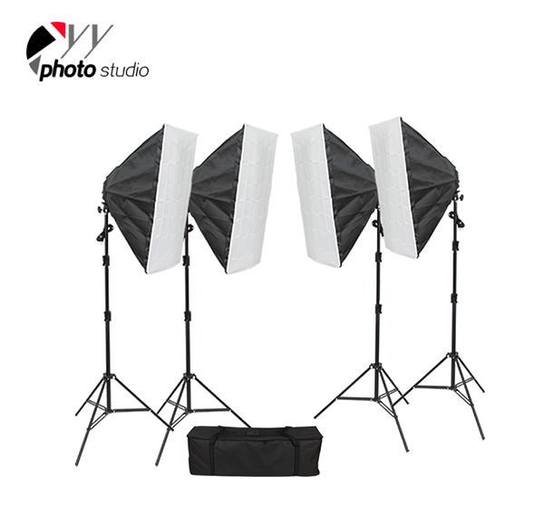 Photo Studio Video Softbox Continuous Lighting Kit with Support System, KIT 032