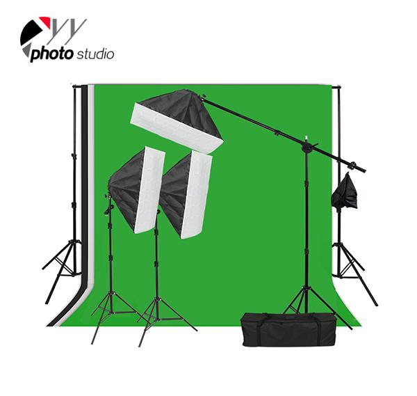 Photo Studio Video Softbox Continuous Lighting Kit with Support System, KIT 041
