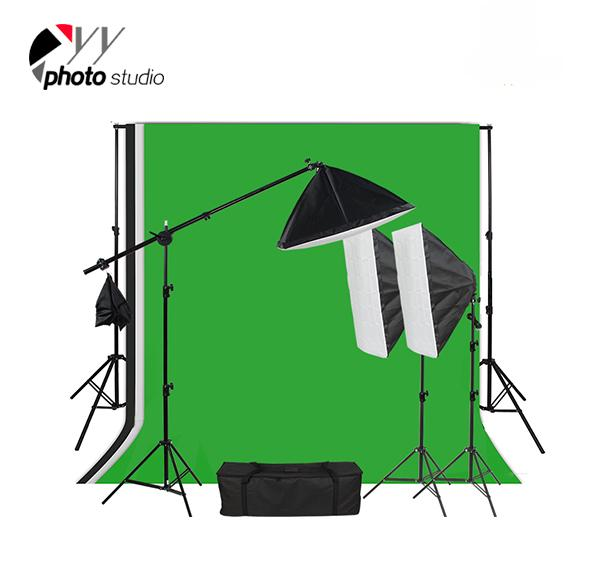 Photo Studio Video Softbox Continuous Lighting Kit with Support System, KIT 047