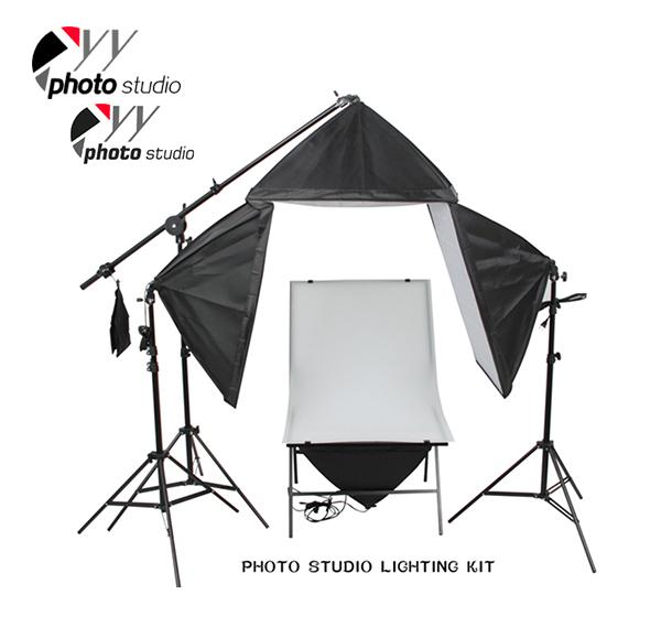 Photo Studio Softbox Continuous Lighting Kit with Shooting Table, KIT 048