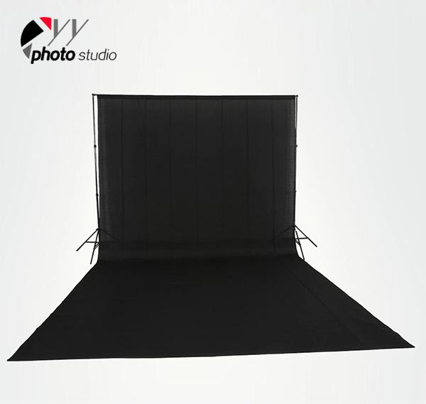 Black Muslin Photography Backdrop
