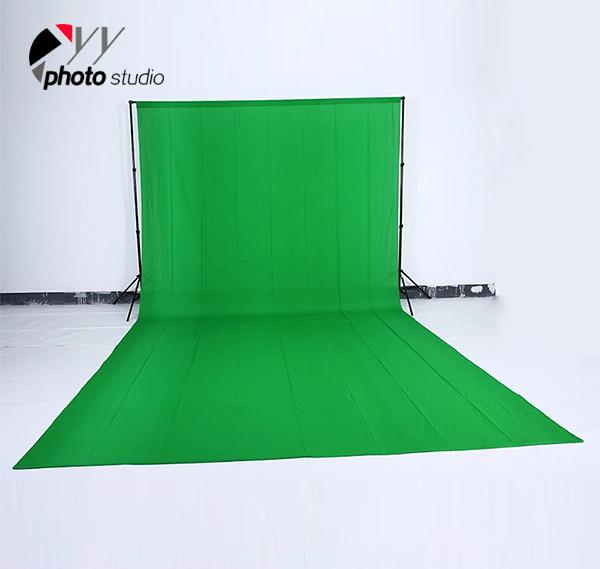 Green Muslin Photography Backdrop