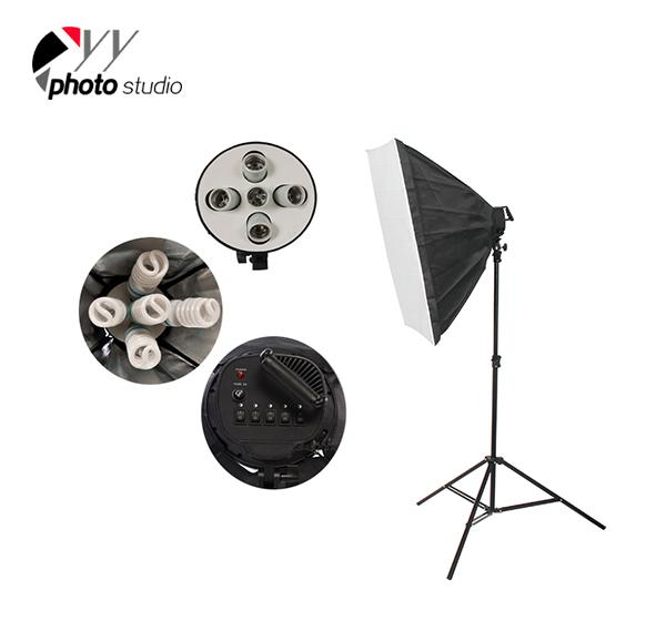 Photo Studio Video Softbox Continuous Lighting Kit with Support System, KIT 034