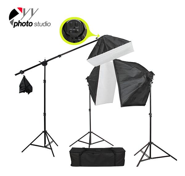 Photo Studio Video Softbox Continuous Lighting Kit with Support System, KIT 036