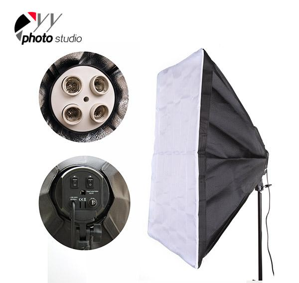 Photo Studio Softbox Only for 4 Head Continuous Lighting Socket, YB203