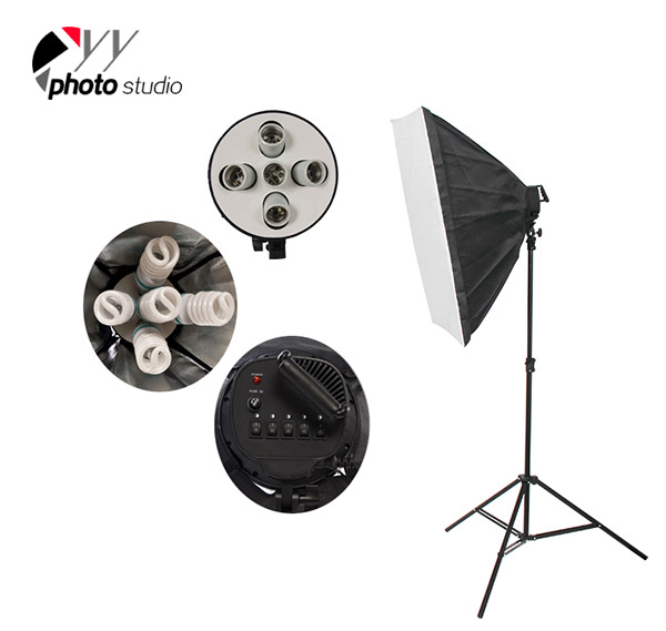 Photo Studio Softbox Only for 5 Head Continuous Lighting Socket, YB206