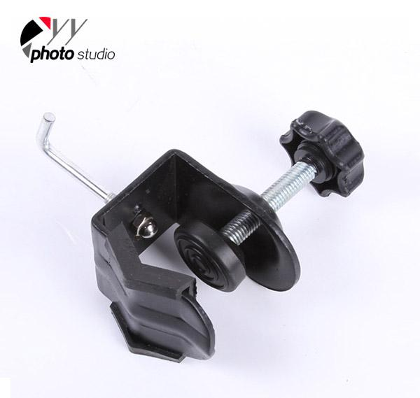 Metal C Clamp U Clip Bracket with Sandbag Hook for Photo Studio Arm Flash Light YA408