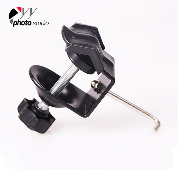 Metal C Clamp U Clip Bracket with Sandbag Hook for Photo Studio Arm Flash Light YA408