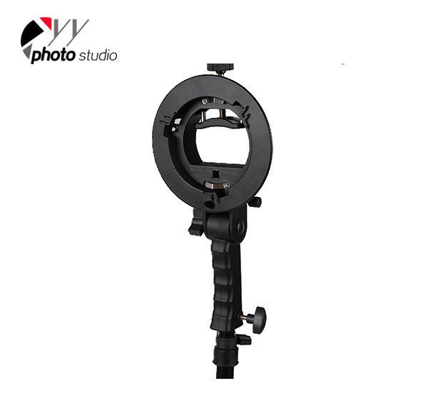 Handheld Speedlite Flash Holder for Bowens Mount Chuck Reflector Beauty Dish Snoot YA5010