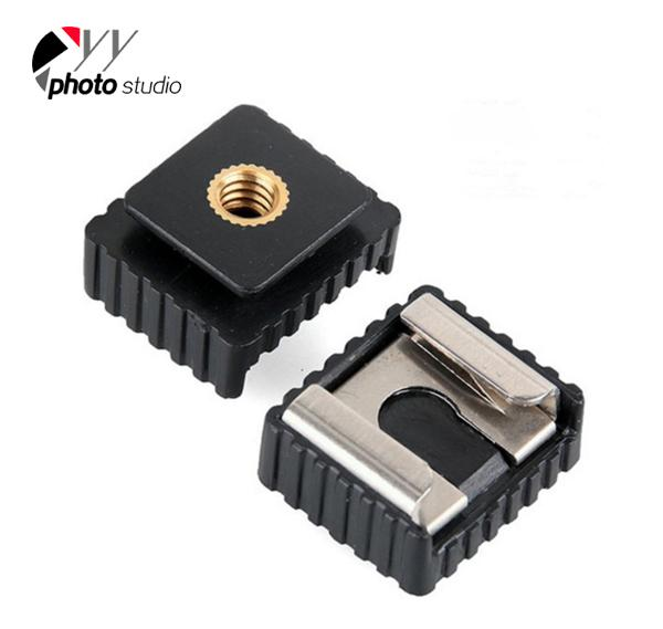 2 Pack Camera Flash Hot Shoe Mount Adapter to 1/4