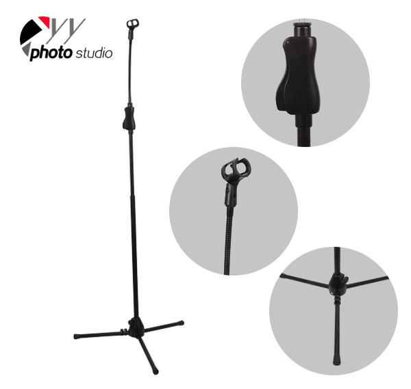Tripod Base Microphone Stand with Flex Arm and Microphone Holder YS523