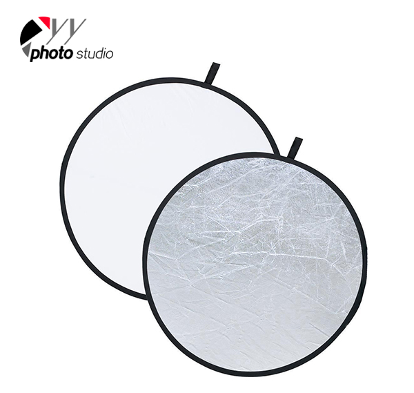 2 in 1  Silver and White Photography Video Studio Reflector  SW-REF