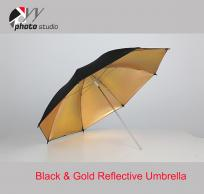 Use a Reflective Umbrella for Outdoor Portraits with Black Backgrounds
